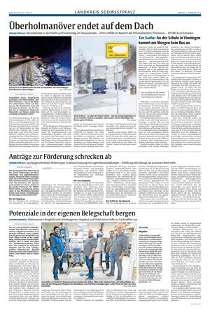 Elektro Bergdoll in der Pirmasenser Zeitung